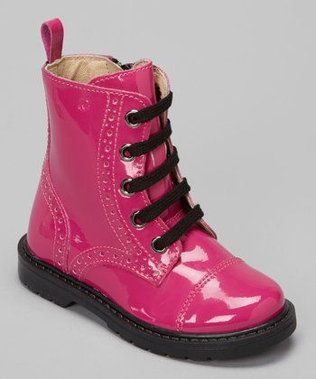 Fuchsia Lacca Lace-Up Boot