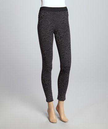 Dark Night Leopard Leggings