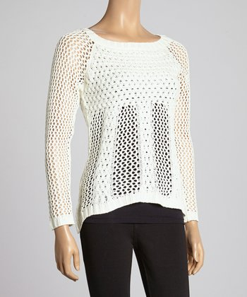Ivory Cable-Knit Tunic