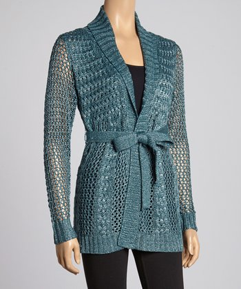 Lagoon Cable-Knit Duster