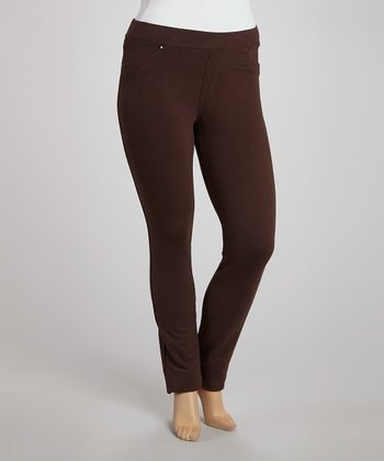 Brown Jeggings - Plus