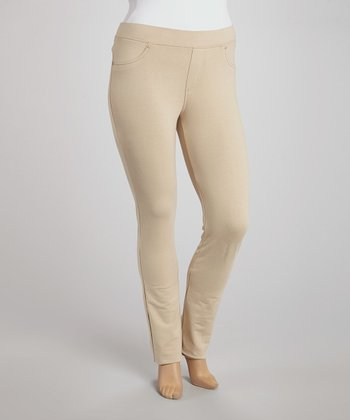 Khaki Jeggings - Plus