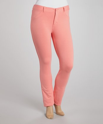 Coral Skinny Pants - Plus