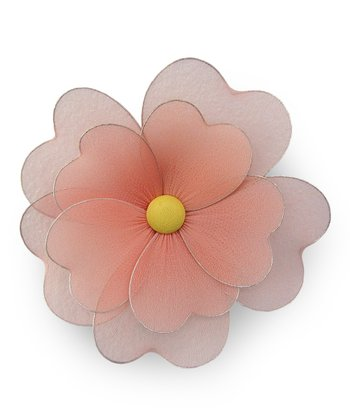Peach Multilayer Hanging Flower