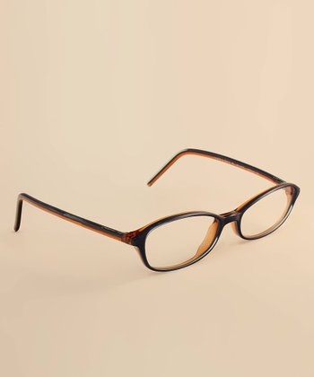 Blue Two-Tone Eyeglasses