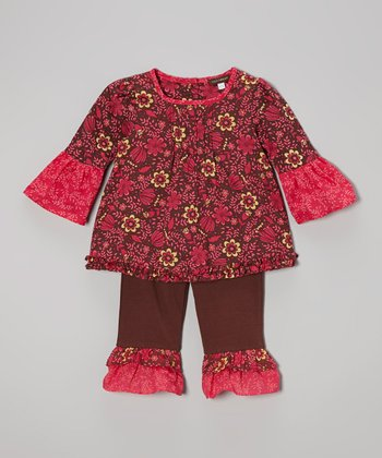 Cocoa Flower Swing Top & Ruffle Pants - Infant, Toddler & Girls