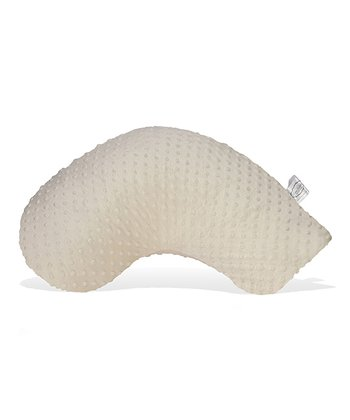 Ivory Minky Dot On-the-Go Nursing Pillow & Slipcover