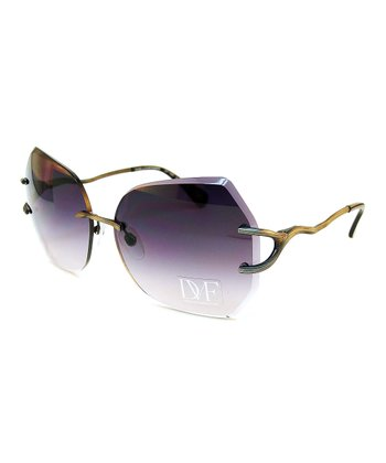 Pewter Frameless Sunglasses