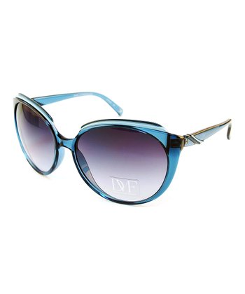 Blue Dusk Cat-Eye Sunglasses