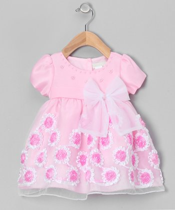 Pink Frill Flower Dress - Infant & Toddler