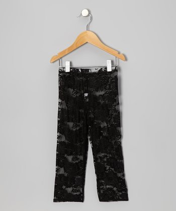 Black Lace Leggings - Infant & Toddler