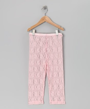 Pink Lace Capri Leggings - Toddler & Girls