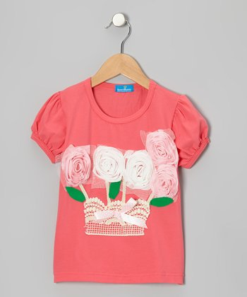 Pink Rose Garden Top - Infant, Toddler & Girls