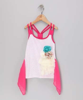 Rose Rosette Racerback Tank - Toddler & Girls