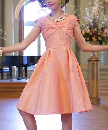 Peach Lily Dress