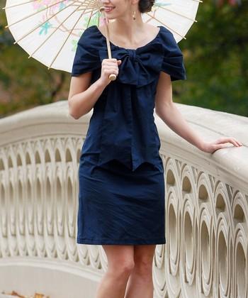 Navy Bethesda Fountain Dress