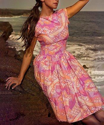 Pink & Orange Garden Isle Dress
