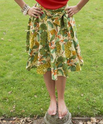Green Grape Heather Skirt