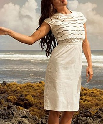 White Scallop Kanani Dress