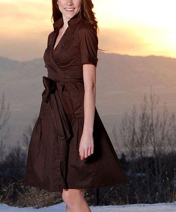 Brown Martha's Vineyard Wrap Dress