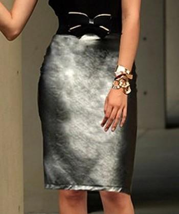 Metallic Over the Moon Skirt