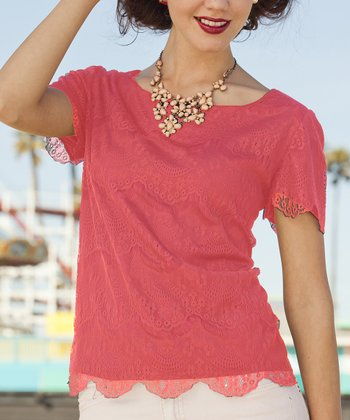Coral Saltwater Taffy Top
