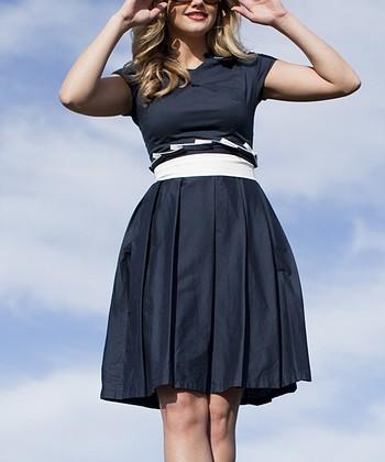 Navy Champs Elysees Dress