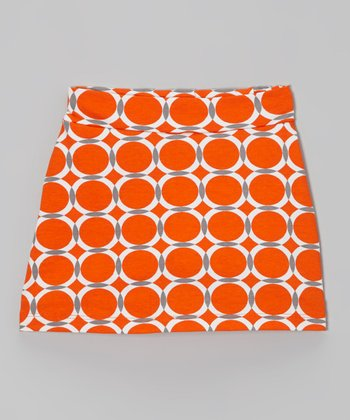 Sunset & Gray Circle Asphalt Skort - Toddler & Girls