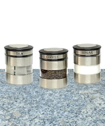 Stainless Steel Canister - Set of Three