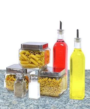 Seven-Piece Condiment Canister Set