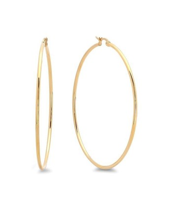 Yellow Gold Polished Hoop Earrings