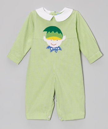 Green Gingham Elf Playsuit - Infant & Toddler