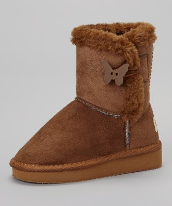 Chestnut Butterfly Toggle Boot