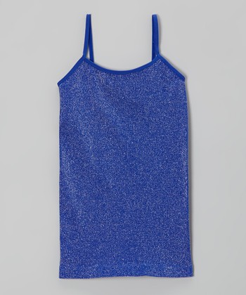 Malibu Sugar Cobalt Metallic Camisole - Girls
