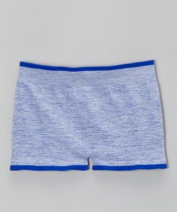 Malibu Sugar Heather Cobalt Shorts - Girls