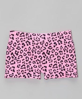 Malibu Sugar Malibu Pink Leopard Shorts - Girls