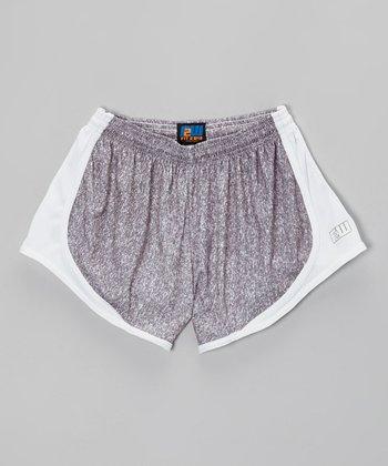 Fit 2 Win Sportswear Heather Gray Distance Shorts - Girls