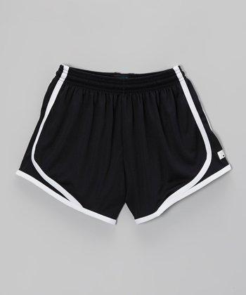Fit 2 Win Sportswear Black Marathon Shorts - Girls