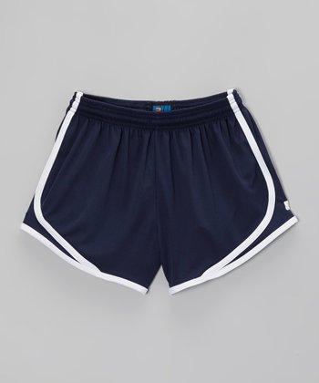 Fit 2 Win Sportswear Navy Marathon Shorts - Girls