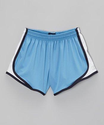 Fit 2 Win Sportswear Gray & Gold Marathon Shorts - Girls