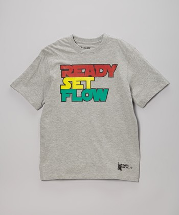 Heather Gray 'Ready Set Flow' Tee - Boys