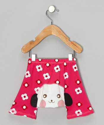 Red Flower Dog Shorts - Infant
