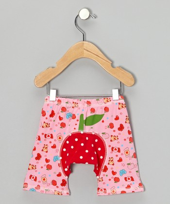 Red & Pink Strawberry Shorts - Infant