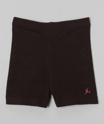 Future Star by Capezio Black Bike Shorts - Girls