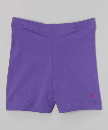 Future Star by Capezio Lavender Bike Shorts - Girls