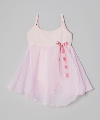 Pink & Mauve Ribbon Skirted Leotard - Toddler & Girls