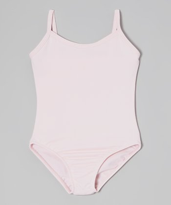 Pink Microfiber Camisole Leotard - Girls