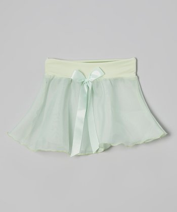 Mint Bow Georgette Skirt - Girls