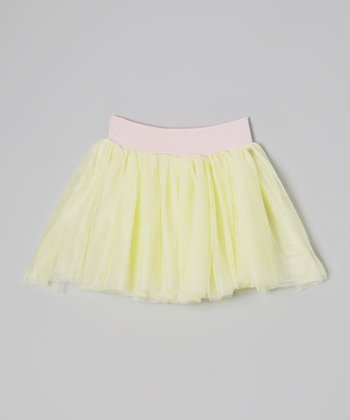 Banana & Pink Soft Tulle Tutu - Toddler & Girls