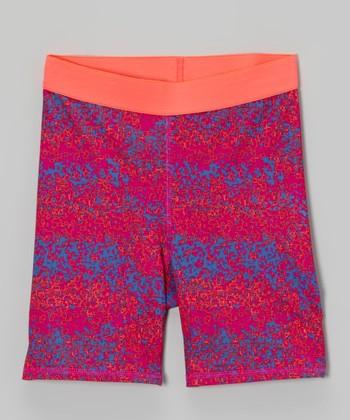 Future Star by Capezio Pink & Purple Sport Shorts - Girls